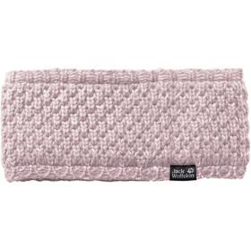 Jack Wolfskin Highloft Knit Fascia Donna, rosa/bianco